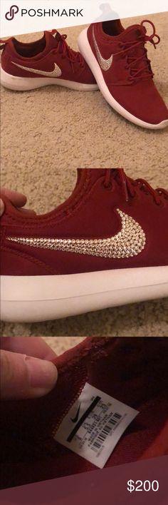 027a2897 💎BEDAZZLED Nike roshe - Swarovski crystal Women's 8 Swarovski crystals on  both sides of Nike