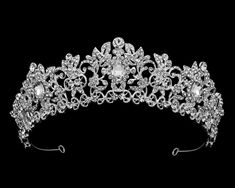 Affordable Elegance Bridal - Intricate Silver Plated Rhinestone Wedding and Quince Tiara, $103.99 (http://www.affordableelegancebridal.com/intricate-silver-plated-rhinestone-wedding-and-quince-tiara/)