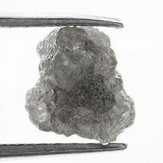1.12 Ct Natural Loose Diamond Rough Natural Shape Silver Grey Color