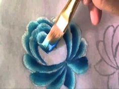 One stroke painting of flowers Roses Tutorial - YouTube