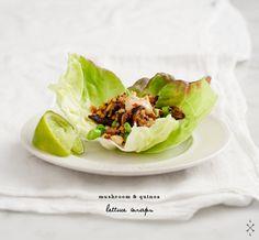 Mushroom and Quinoa Lettuce Wraps