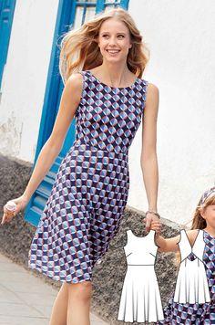 Cutout Back Dress Burda Apr 2017 #117 http://www.burdastyle.com/pattern_store/patterns/cutout-back-dress-042017