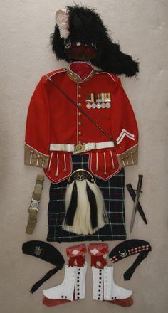 John Stein Dryden's Seaforth Highland uniform