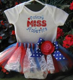 4th of July outfit for hopefully a our little girl!