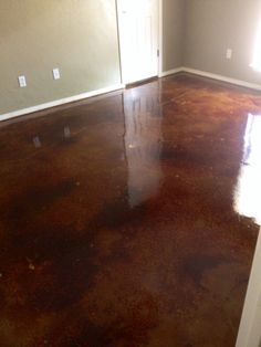Beautiful stained concrete by Concrete Expressions