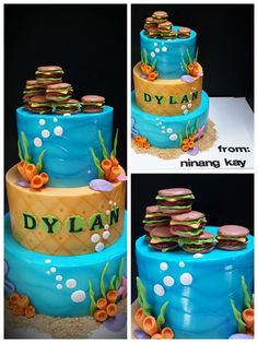Unique twist on Sponge Bob! Cake by Bellina's