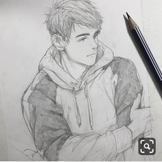Excellent Drawing Faces With Graphite Pencils Ideas. Enchanting Drawing Faces with Graphite Pencils Ideas. Human Drawing, Guy Drawing, Character Drawing, Drawing People, Figure Drawing, Art Drawings Sketches Simple, Pencil Art Drawings, Cool Drawings, Anime Sketch