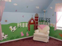 Amazon.com: Nursery Wall Mural - Farm Animal Wall Mural Self-adhesive Stencil Kit - Fun Nursery Decor: Baby