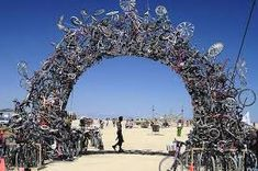 Image result for recycled bike archway
