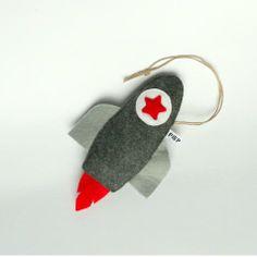 Raket hanger donkergrijs & rood | Huis en Inrichting - Kinder- en babykamer