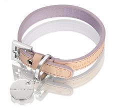 Hennessy Small Leather Dog Collar, Natural LV with Violet Lining *** Quickly view this special  product, click the image (This is an amazon affiliate link. I may earn commission from it)
