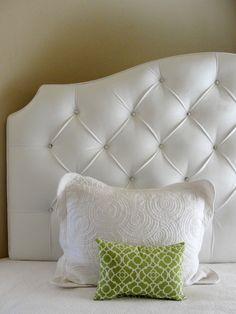 Black Damask Upholstered Tufted Headboard With Diamond