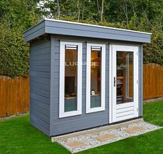 Mini Garden Office, perfect for one person. Double glazed & available insulated. - Mini Garden Office, perfect for one person. Double glazed & available insulated. Garden Home Office, Shed Office, Office Pods, Backyard Office, Outdoor Office, Home And Garden Store, Small City Garden, Garden Spaces, Shed Conversion Ideas