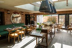 Dining room spilling out to courtyard at No.38.