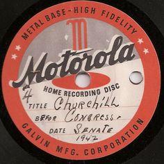 vintage motorola record label