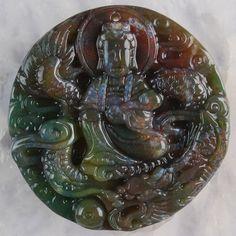E003759-47x46x9-Indian-Agate-Carved-Kwan-yin-Pendant-Bead