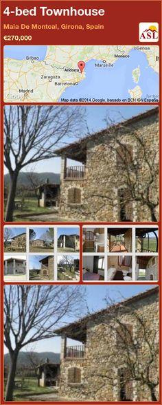 4-bed Townhouse in Maia De Montcal, Girona, Spain ►€270,000 #PropertyForSaleInSpain