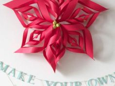 Make a Paper Snowflake Star Christmas Ornament