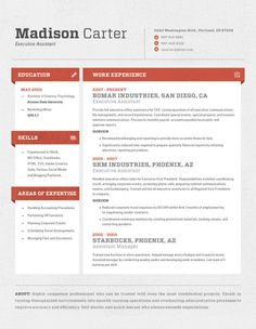 Resume Template | Cubes Red – Loft Resumes
