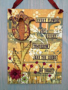 Every Flower {with Eclectica³ Lin Brown Stamps by Designer Lin Brown}