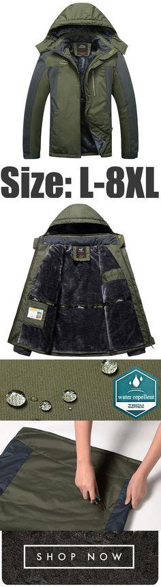 a1f555b2d83 Mens Plus Size Warm Outdoor Waterproof Windproof Jackets Men s Coats And  Jackets