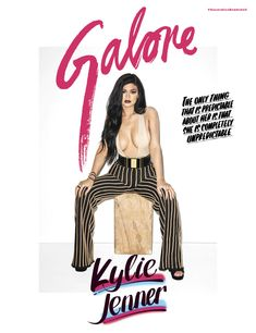 Kylie Jenner shows off insane cleavage on the cover of Galore! | toofab.com