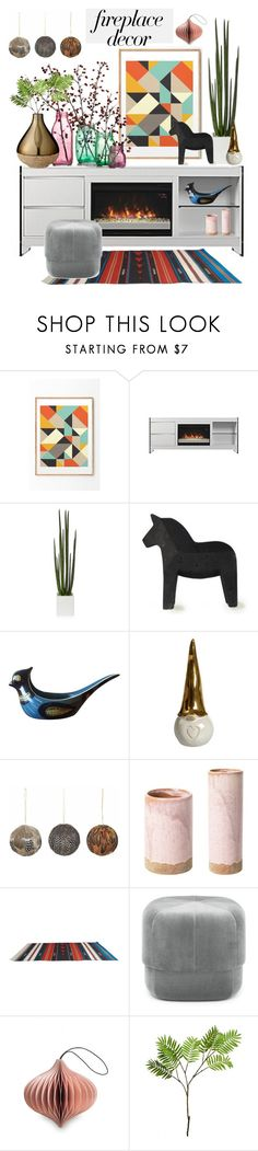 """""""#fireplace"""" by hellodollface ❤ liked on Polyvore featuring interior, interiors, interior design, home, home decor, interior decorating, Broste Copenhagen, Normann Copenhagen, Nordstjerne and Wyld Home"""