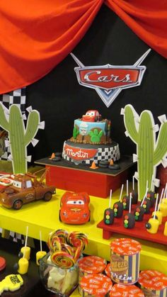 Check out this Disney Cars birthday party! See more party ideas at CatchMyParty.com!