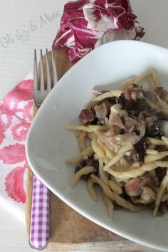 trofie radicchio e gorgonzola