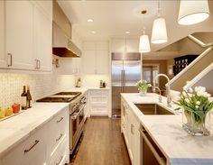 like the undermount stainless sink #Kitchen #Ideas Kitchen Ideas