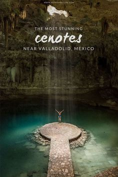 Cenotes near Valladolid, Mexico Stunning Cenotes near Valladolid, Mexico - Crazy awesome cenotes to visit in Mexico! - jumping through the tiny cenote Calavera in Tulum Megan in the Suytun Cenote in Valladolid map of yucatan attractions Tulum Mexico, Cenote Mexico, Mexico City, Chichen Itza Mexico, Riviera Maya Mexico, Mexico Destinations, Travel Destinations, Azulik Hotel Tulum, Cool Places To Visit