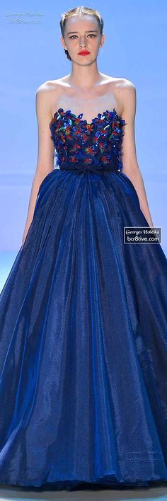Monet's Midnight Stroll by Georges Hobeika FW 2014-15 Couture     jaglady