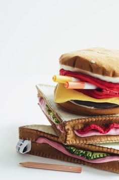 Trousse club-sandwich by Lostinthepancakes on Etsy