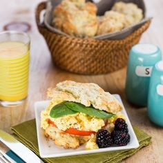 Egg Sandwiches on Cheddar, Garlic and Herb Biscuits - foodgawker.com
