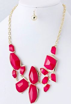 Jewel Bib Necklace Set at PinkWasabiShop.com