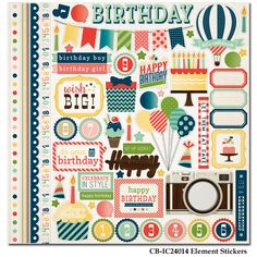 Carta Bella Paper - Its a Celebration Collection - 12 x 12 Cardstock Stickers - Elements at Scrapbook.com