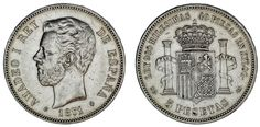 5 PESETAS. Ag. DURO. MADRID. AMADEO I DE SABOYA. 1871*. VF+/MBC+. OPORTUNIDAD.