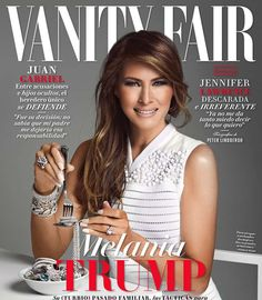 PHOTOS: Controversial magazine coversFirst lady Melania Trump appears to eat a spaghetti strand made of diamonds on the cover of Vanity Fair Mexico at a time when her husband, President Donald Trump, is doubling down on his plans to build a border wall.See other recent controversial magazine covers ... Photo: Vanity Fair Mexico