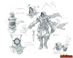 Battle Chasers Nightwar various assassins concept art (Pencil)