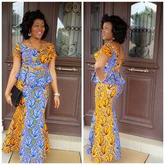 Creative Ankara Skirt and Blouse Style ~African fashion, Ankara, kitenge, African women dresses, African prints, Braids, Nigerian wedding, Ghanaian fashion, African wedding ~DKK