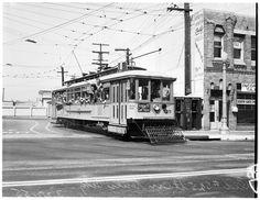 Vintage Los Angeles Railway Trolley