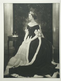 Deborah, Dowager Duchess of Devonshire's Peeress's Robes, worn at the Coronation of H.M. The Queen in 1953  Possibly late 18th century with later alterations  Silk velvet and miniver fur edged with ermine