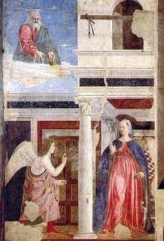 Piero della Francesca, Annunciazione, Basilica di San Francesco, Arezzo