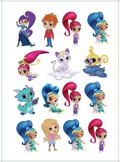 $7.95 AUD - 1X Shimmer And Shine Temporary Tattoo Sheet. Party Supper Lolly Bag Bunting Cake #ebay #Home & Garden