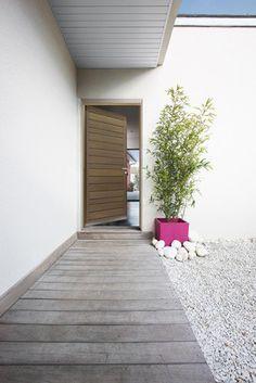 Entrance door / porte d'entrée moderne en bois - Bel'm                                                                                                                                                                                 Plus