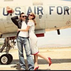 Vintage military love