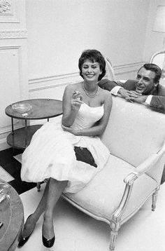 Sophia Loren and Cary Grant.