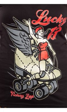 LUCKY 13 DERBY WING TEE
