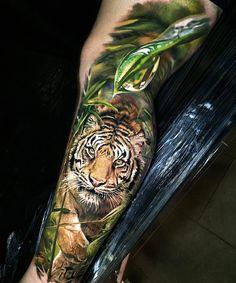 wild tiger tattoo by steve butcher