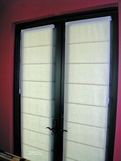 French Door Roman Blinds | ... Window\ Tech :: French Door Treatments